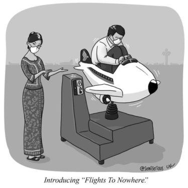 【SQ】シンガポール航空がコロナ間の増益を目指して、都市上空を旋回する遊覧飛行を開始するかも!?笑